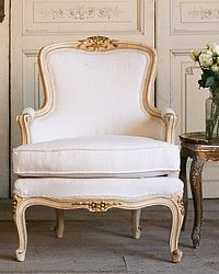 One of a Kind Vintage French Style Louis XV Bergeres Pair