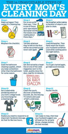 The 14 Unavoidable Steps of Every Mom's Cleaning Day