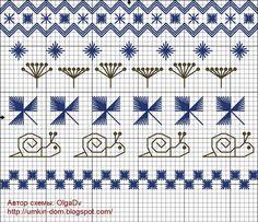 Схемы вышивки батончики