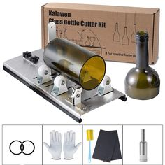 Kalawen Glass Bottle Cutter Bottle Cutter Latest Version DIY Machine for Cutting Wine Beer Whiskey Alcohol Champagne to Craft Glasses Accessories Tools Crafts-Sewing Supplies Wood Crafts-Sewing Supplies Tools Cutting Tools Bottle Cutter, Glass Cutter, Cutting Glass Bottles, Mini Bar, Flower Bottle, Wine Bottle Crafts, Beer Bottles, Wine And Beer, Creative Decor