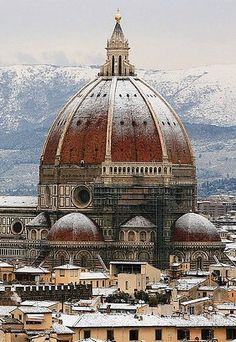 This is a picture of Brunellschi's dome in Florence, Italy. Filippo Brunelleschi was one of the greatest architects and engineers in the Reniassance.