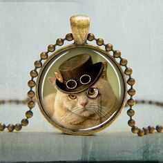 Steampunk Cat Pendant