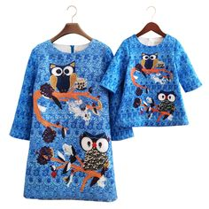 Best price on Blue Laguna Mother Daughter Slim Dresses Owl Print     Price: $ 40.80  & FREE Shipping     Your lovely product at one click away:   http://mrowlie.com/blue-laguna-mother-daughter-slim-dresses-owl-print/     #owl #owlnecklaces #owljewelry #owlwallstickers #owlstickers #owltoys #toys #owlcostumes #owlphone #phonecase #womanclothing #mensclothing #earrings #owlwatches #mrowlie #owlporcelain