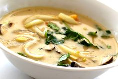Thai Coconut Soup. Super easy and no fish sauce