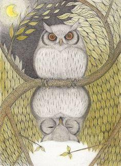 表裏 owl by Matsuyama Madoka Hermetic Axiom: As Above, so below