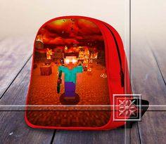 Herobrine Fire Amazing Famous Game - Game Design For Kids School Bag Backpack