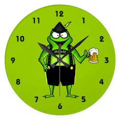 Hoptoberfest Wall Clock