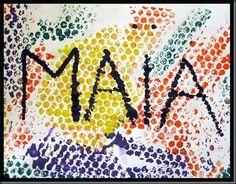 La maîtresse n'a plus qu'à tracer les lettres de notre prénom pour que nous fassions des petits points noirs au coton tige ou à la peinture à doigts en suivant les lignes… Name Art, Baby Development, Art Plastique, Pixel Art, Crafts For Kids, Workshop, Kindergarten, Quilts, Education