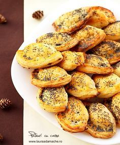 Delicious homemade meat pies with poppy seeds - hmm, could try with Jamaican beef instead for yummy ny style beef patties Baby Food Recipes, Beef Recipes, Great Recipes, Cooking Recipes, Favorite Recipes, Cooking Ideas, Food Ideas, Romania Food, Pastry And Bakery
