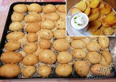 Crunchy snack: these potato halves from the oven are an internet hit! Passionfruit Recipes, Potato Pasta, Food Platters, Mediterranean Recipes, Party Snacks, Four, Finger Foods, Good Food, Food And Drink