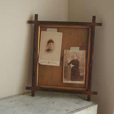 vintage wood frame with glass by ImSoVintage on Etsy, $21.00