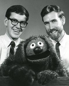 Jim, Rowlf, and 19-year-old Frank Oz, who performed Rowlf's right paw and eventually became Jim's closest performing partner and best friend, 1963