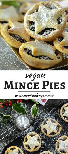 These homemade Vegan Mince Pies hold the very essence of Christmas in their delicious pastry crusts! Nothing can beat one warm from the oven with a glass of mulled wine!  via @avirtualvegan