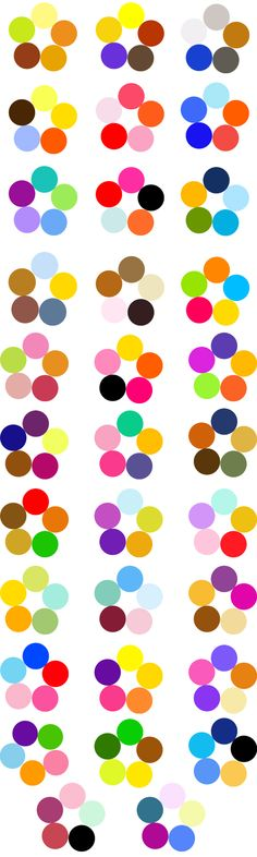 Itten color wheel for creating harmonious color combinations - Fair Masters - handmade, handmade
