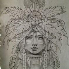 native american women illustrations - Google Search