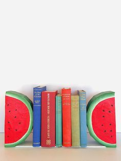 watermelon bookends #bookends #watermelon #diy
