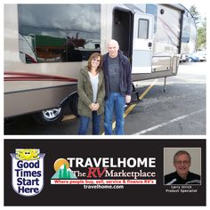 Congratulations to Gary & Cheryl On the purchase of their Cougar 327RES #FifthWheel from Larry! #Travel #travelhome #camping #cougarrv #rving #Vacation