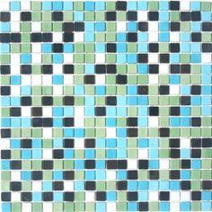Bellagio Glass Mosaic Tile Blend- Illuminati Colori Glass Mosaic - ICB4010 $12.95 at MosaicTileSupplies.com