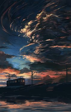 Sunset by http://www.pixiv.net/member.php?id=986537