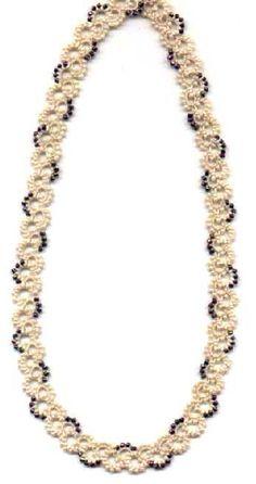 Nina Libin - Beaded Necklace (Needle Tatting)