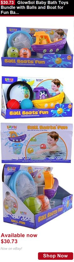 Baby Bathing Accessories: Glowsol Baby Bath Toys Bundle With Balls And Boat For Fun Bath Time BUY IT NOW ONLY: $30.73