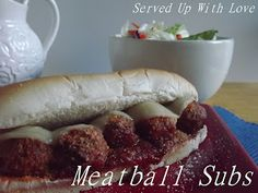 Served Up With Love: Crockpot Meatball Subs