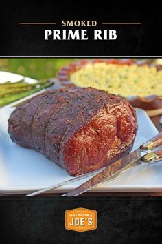Want to add more flavor to your beef through dry-aging and hardwood smoking? This recipe for dry-aged smoked prime rib will create intricate and complex flavors your crowd will enjoy. Smoked Meat Recipes, Smoked Beef, Smoked Ribs, Rib Recipes, Smoked Chicken, Game Recipes, Steak Recipes, Pellet Grill Recipes, Grilling Recipes