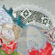Textielcollages van Marieke Smink Textile Fiber Art, Artwork, Inspiration, Biblical Inspiration, Work Of Art, Auguste Rodin Artwork, Artworks, Illustrators, Inspirational
