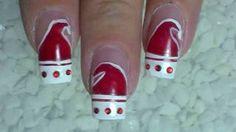 Nail Art Design ❄ Christmas ❄ Santa Claus is coming to nails ❄ Tutorial, via YouTube.