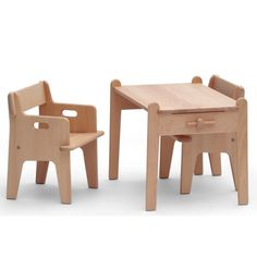 Kids table and chairs by Hans J. Wegner