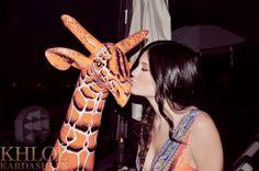 khloe's giraffe from lamar!!!!!