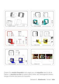 Création d'un module pour une exposition à Padoue. Le même module peut être exploité de différentes façons selon les oeuvres à présenter.