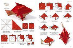 Resultado de imagen para Fazer origami chaveiro  lagarto