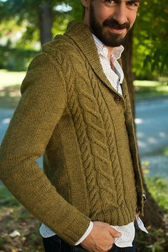 Ravelry: Bespoken pattern by Cassandra Dominick Male Sweaters, Men Sweater, How To Purl Knit, Men's Coats And Jackets, Knit Fashion, Knit Cardigan, Knitting Patterns, Knit Crochet, Renewable Energy