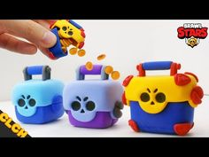 Hello everyone, its CLCH! In this video, I made Brawl Box of BrawlStars. If there is any question about clay creation, please leave a comment! Polymer Clay Ornaments, Polymer Clay Projects, Polymer Clay Flowers, Clay Crafts, Polymer Clay Art, Diy And Crafts, Handmade Polymer Clay, Boys Bday Cakes, Cumpleaños Diy