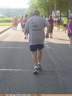 Love it! It motivates me that if he can do it...I can do it to. I'm totally not a runner but I'm  training for my 1st ever race and making it a 10k!
