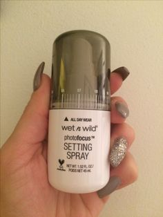 I bought this setting spray from wet and wild. Has a slight scent 23df38d00