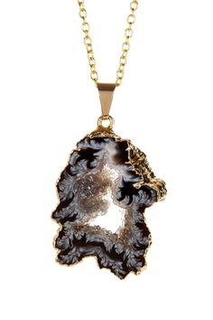 LEILA | Geode Slice Pendant Necklace
