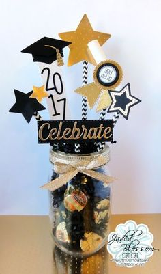 If you& got someone graduating this year, these graduation party ideas are going to help you throw the perfect celebratory bash! Whether you need ideas for decorations, food, centerpieces or just ideas for overall graduation fun, we& got you covered! Graduation Party Centerpieces, Graduation Party Planning, College Graduation Parties, Graduation Decorations, Graduation Celebration, Graduation Party Decor, Food Centerpieces, Graduation Ideas, Diy Graduation Gifts