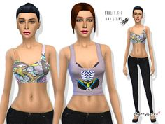 The Sims Resource: Sugar Free – Clothing set by Cherry Berry Sim • Sims 4 Downloads