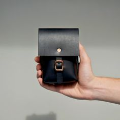 Alfie Douglas — Alfie Six / Utility Case/Small Leather Bag Design, Leather Clutch Bags, Leather Wallet, Retro Camera, Small Case, Leather Pieces, Leather Craft, Handmade Leather, Leather Projects