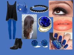 """""""black and blue :)"""" by louiseshields710 ❤ liked on Polyvore"""
