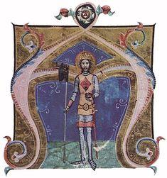 Iniciálék a Képes Krónikából - Szent László király
