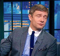 Martin Freeman on Late Night with Seth Meyers 12-8-14