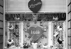 'It Costs So Little To Look So Lovable' proclaims the sign over the Lovable Bras display in the Brassiere Co. New Paris, Photo Archive, Ireland, Irish, That Look, Windows, Sign, Display, Underwear