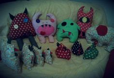 Stuff I made for my kids, plushy toys, monster dolls, etc