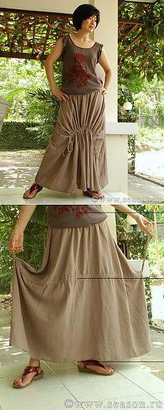 Тайская юбка в стиле «бохо». Мастер-класс.
