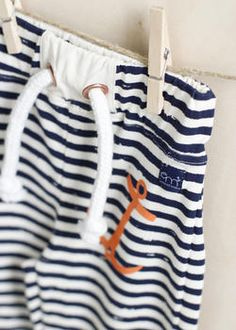 EM Ted Trousers Ecru/Navy Stripe - emma och malena