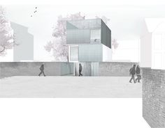 Image 33 of 36 from gallery of Slip House / Carl Turner Architects. A As Architecture, Architecture Visualization, Architecture Drawings, Co Housing, Presentation Layout, Architectural Presentation, Display Design, Slip, Cladding