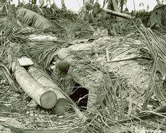 Japanese dugout at Gander Point, Makin Atoll army